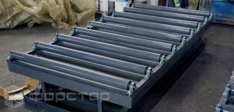 Подъемный стол с рольгангами винтовой конвейер цены