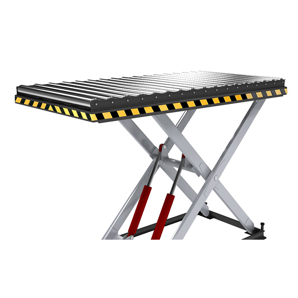 Тележки с подъемным столом рольгангом купить транспортер с пробегом в липецке